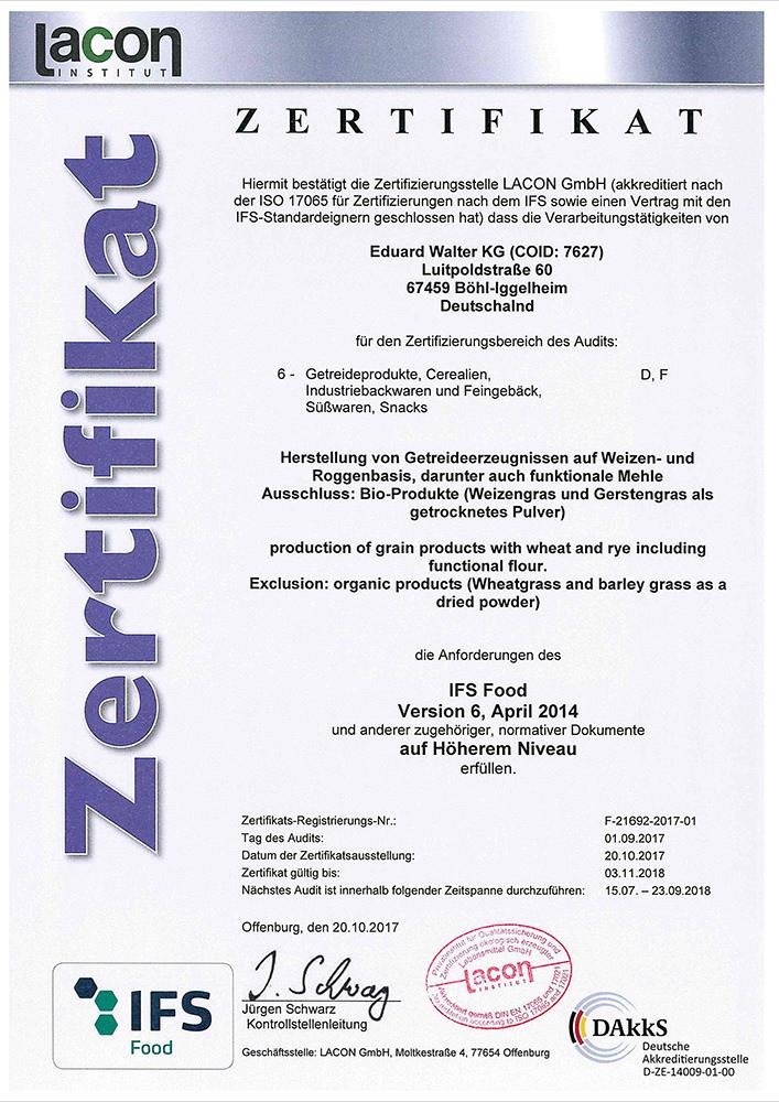 IFS-Zertifikat 2017